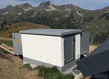 Trafostation W 2817 zur Stromversorgung der Enzianhütte