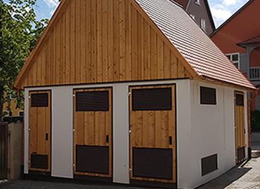 Trafostion in Holzbauweise für Stadtwerke Dinkelsbühl